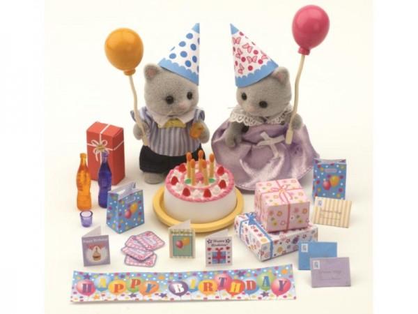 Купить Игровой набор Sylvanian Families День рождения в интернет магазине игрушек и детских товаров