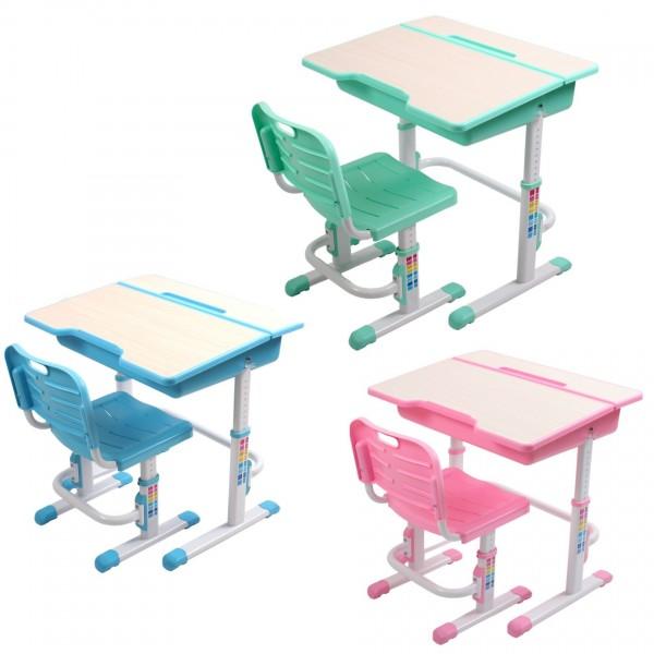 Купить Комплект детской мебели Evolife Study 2 - голубой (стол и стул трансформер) в интернет магазине игрушек и детских товаров