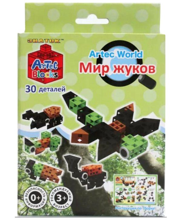 Конструктор Artec World Мир жуков - 30 деталей (Знаток)