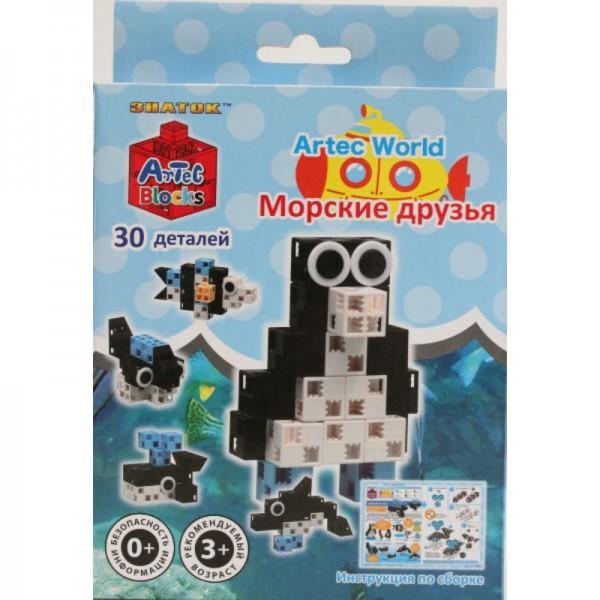 Купить Конструктор Artec World Морские друзья - 30 деталей (Знаток) в интернет магазине игрушек и детских товаров