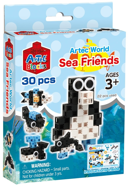 Конструктор Artec World Морские друзья - 30 деталей (Знаток)