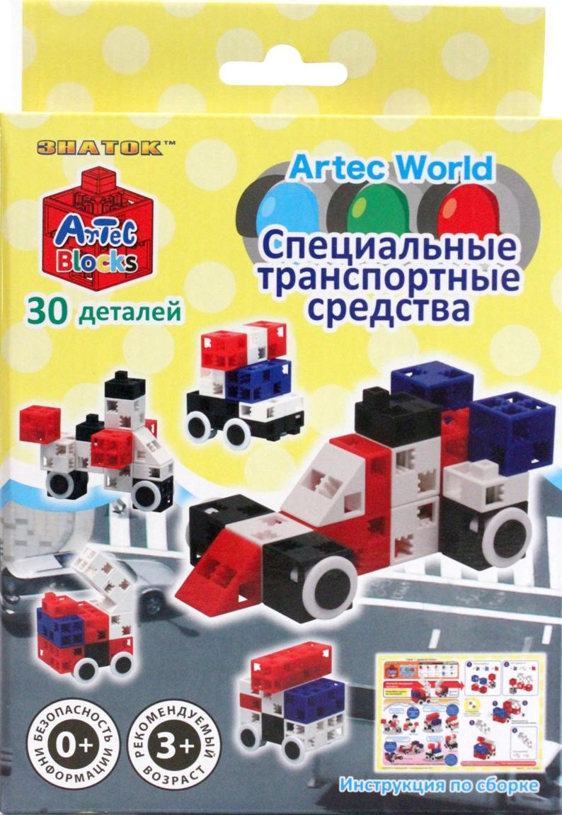 Конструктор Artec World Специальные транспортные средства - 30 деталей (Знаток)
