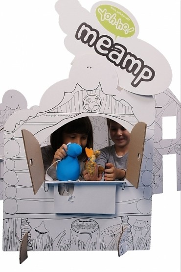 Купить Картонный домик CartonHouse Играем в Театр в интернет магазине игрушек и детских товаров