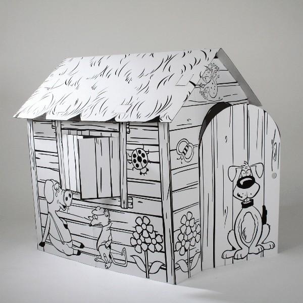 Купить Картонный домик CartonHouse Веселая ферма в интернет магазине игрушек и детских товаров