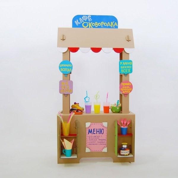 Купить Картонный домик CartonHouse Кафе сковородка в интернет магазине игрушек и детских товаров