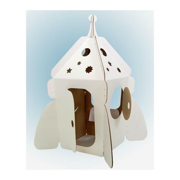 Купить Домик из картона CartonHouse Ракета на Луну - белый в интернет магазине игрушек и детских товаров