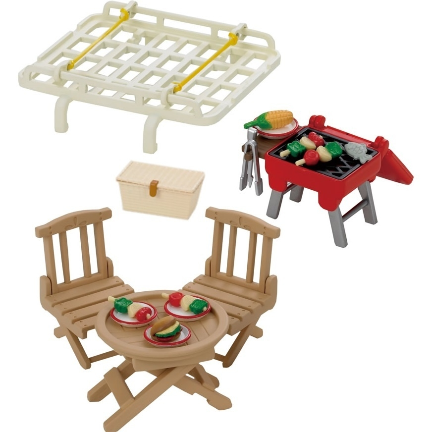 Игровой набор Sylvanian Families Семейный пикник с багажником для красного автомобиля