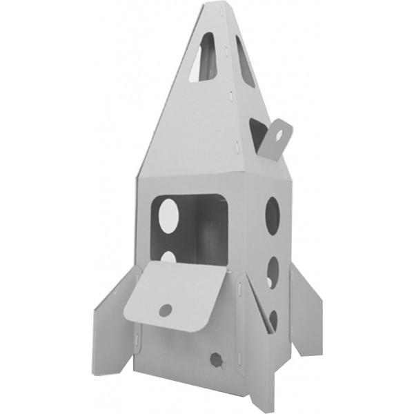 Купить Домик из картона CartonHouse Ракета на Марс - белый в интернет магазине игрушек и детских товаров