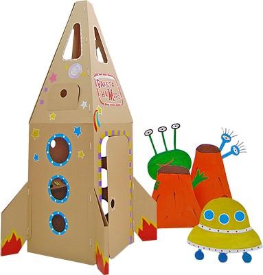 Купить Домик из картона CartonHouse Ракета на Марс - коричневый в интернет магазине игрушек и детских товаров