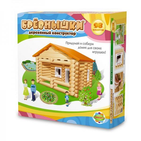 Купить Конструктор Бревнышки - 98 деталей (Мавлата) в интернет магазине игрушек и детских товаров