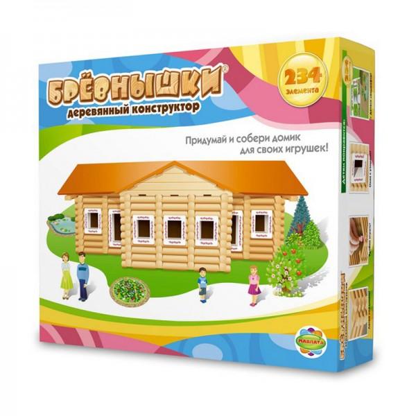 Купить Конструктор Бревнышки - 234 детали (Мавлата) в интернет магазине игрушек и детских товаров