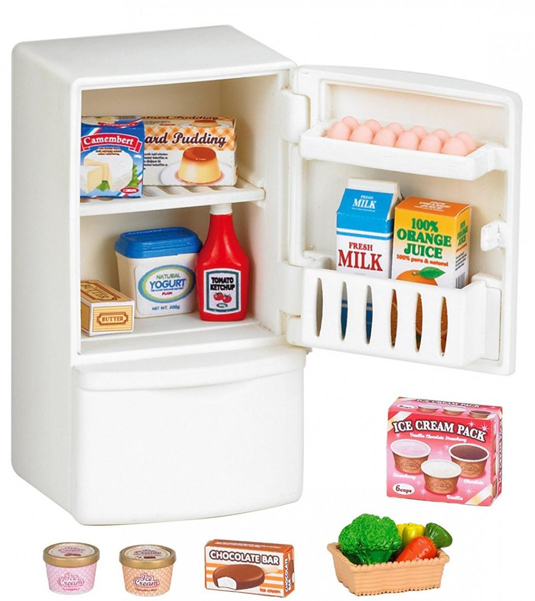 Игровой набор Sylvanian Families 3566 Холодильник с продуктами (новый)