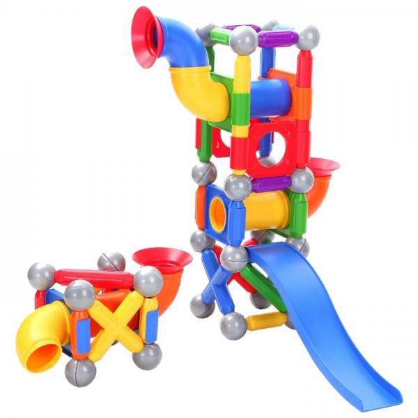 Купить Магнитный конструктор Bondibon SmartMax Мега Шар-трек 2 в интернет магазине игрушек и детских товаров