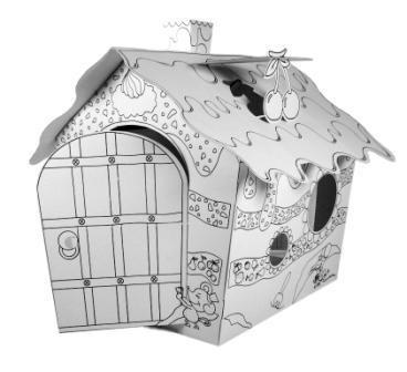Купить Домик из картона CartonHouse Фруктовый домик в интернет магазине игрушек и детских товаров