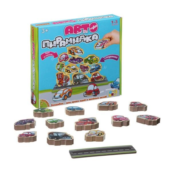 Купить Настольная игра Bondibon Автопирамидка в интернет магазине игрушек и детских товаров