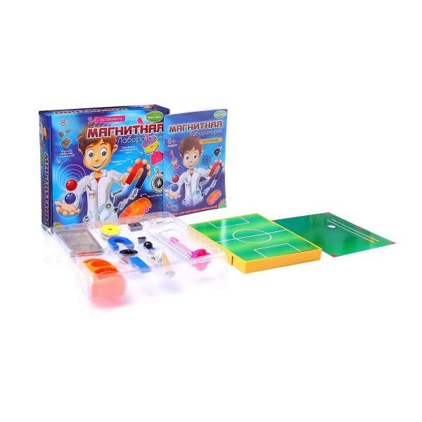 Купить Набор Bondibon Французские опыты Науки с Буки - Магнитная лаборатория (35 экспериментов) в интернет магазине игрушек и детских товаров