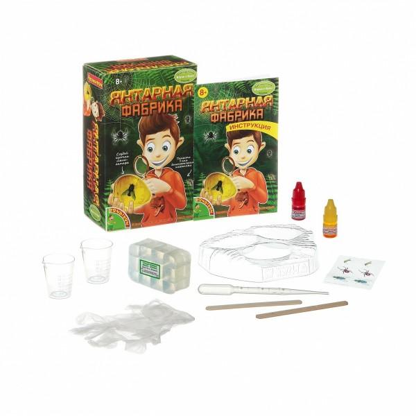 Купить Набор Bondibon Французские опыты Науки с Буки - Янтарная фабрика в интернет магазине игрушек и детских товаров