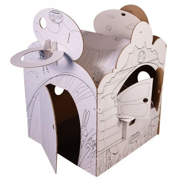 Купить Домик из картона CartonHouse Фэнтези в интернет магазине игрушек и детских товаров