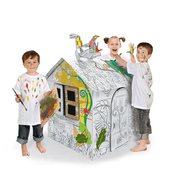 Купить Картонный домик CartonHouse Джунгли в интернет магазине игрушек и детских товаров