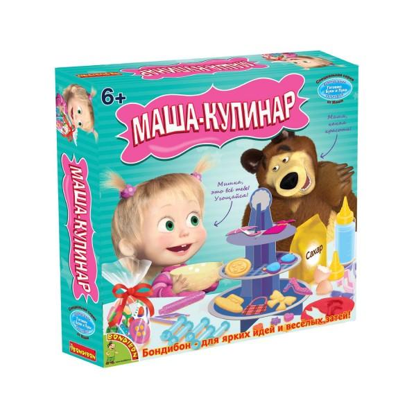 Купить Набор Bondibon Французские опыты Науки с Буки Маша и медведь - Маша-кулинар (15 экспериментов) в интернет магазине игрушек и детских товаров