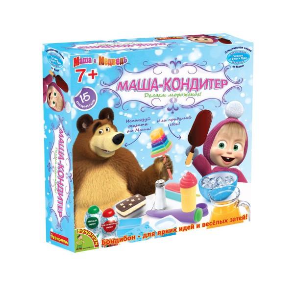 Купить Набор Bondibon Французские опыты Науки с Буки Маша и медведь - Маша-кондитер (15 экспериментов) в интернет магазине игрушек и детских товаров