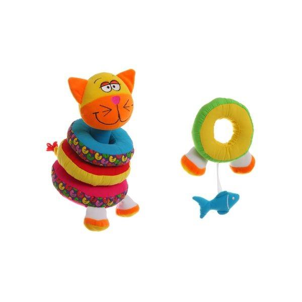 Развивающая мягкая игрушка Bondibon ВВ1292 Пирамидка Кот