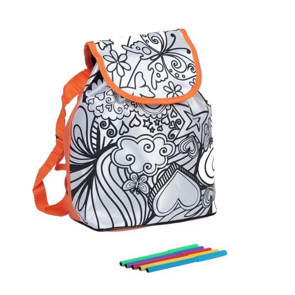 Набор Bondibon ВВ1532 Рюкзак для раскрашивания - Оранжевый