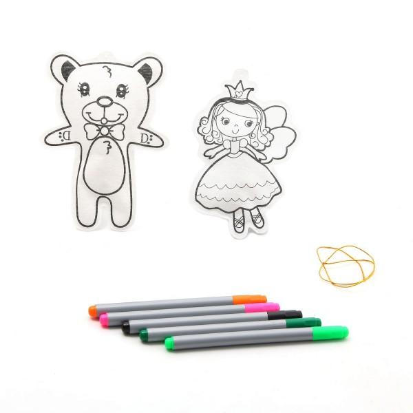 Набор для творчества Bondibon ВВ1161 Елочные украшения Принцесса и мишка