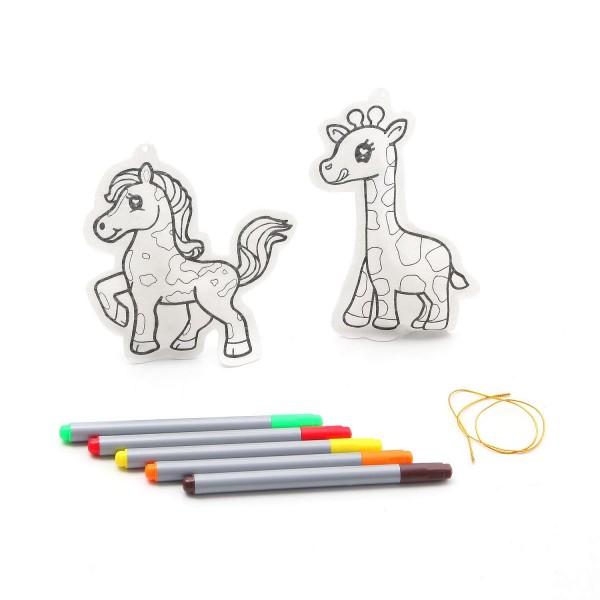 Набор для творчества Bondibon ВВ1162 Елочные украшения Жираф и лошадка