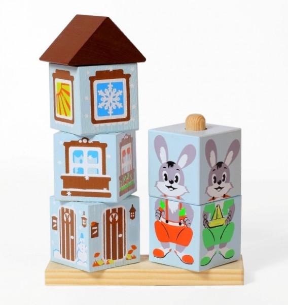 Кубики на палочке Томик Зайка