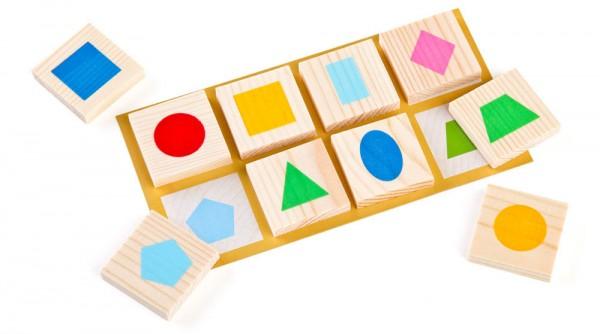 Купить Лото Томик Геометрические фигуры в интернет магазине игрушек и детских товаров