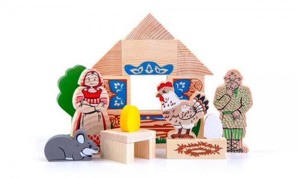 Купить Конструктор Томик Сказки - Курочка ряба (17 деталей) в интернет магазине игрушек и детских товаров