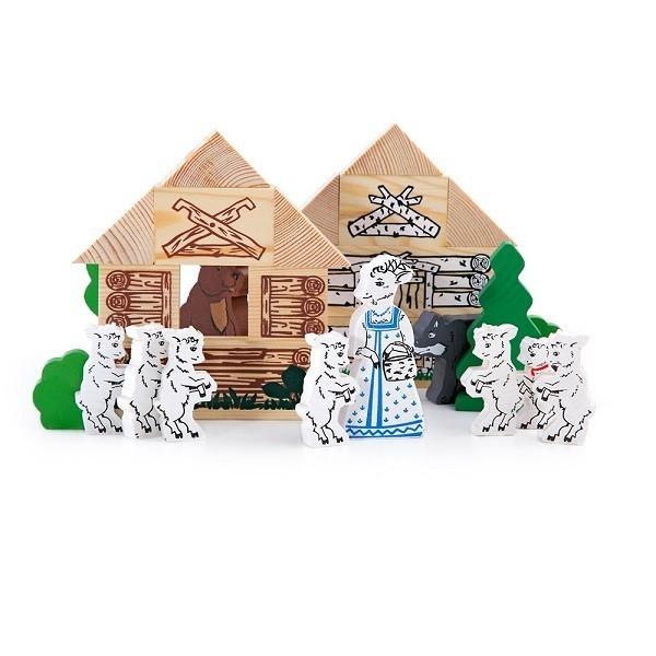 Купить Конструктор Томик Сказки - Волк и семеро козлят (28 деталей) в интернет магазине игрушек и детских товаров