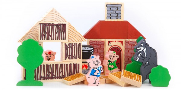 Купить Конструктор Томик Сказки - Три поросенка (31 деталь) в интернет магазине игрушек и детских товаров