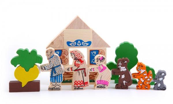 Купить Конструктор Томик Сказки - Репка (19 деталей) в интернет магазине игрушек и детских товаров