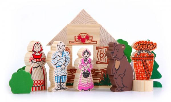 Купить Конструктор Томик Сказки - Маша и медведь (17 деталей) в интернет магазине игрушек и детских товаров