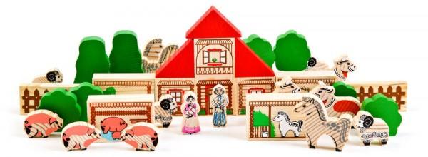 Купить Конструктор Томик Ферма - 42 детали в интернет магазине игрушек и детских товаров
