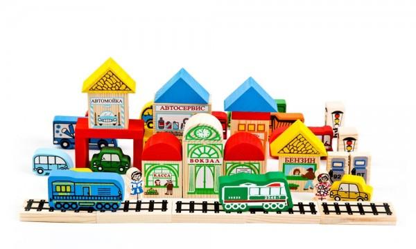 Купить Конструктор Томик Транспорт - 45 деталей в интернет магазине игрушек и детских товаров