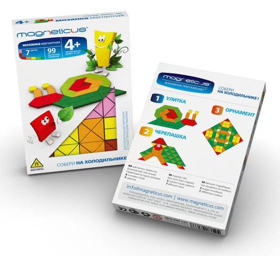 Купить Мозаика магнитная Magneticus Улитка - 99 деталей в интернет магазине игрушек и детских товаров