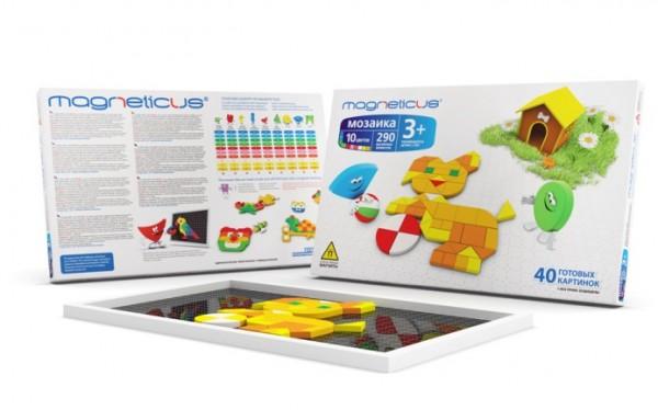 Купить Мозаика магнитная Magneticus Щенок - 290 деталей в интернет магазине игрушек и детских товаров