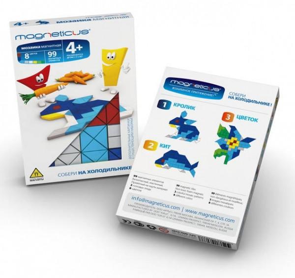 Купить Мозаика магнитная Magneticus Кролик - 99 детали в интернет магазине игрушек и детских товаров