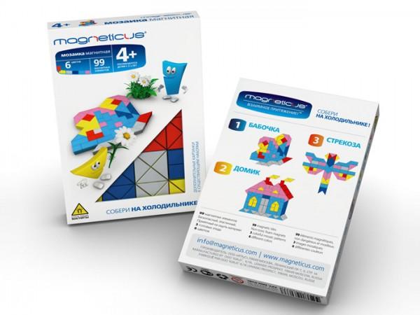 Купить Мозаика магнитная Magneticus Бабочка - 99 детали в интернет магазине игрушек и детских товаров