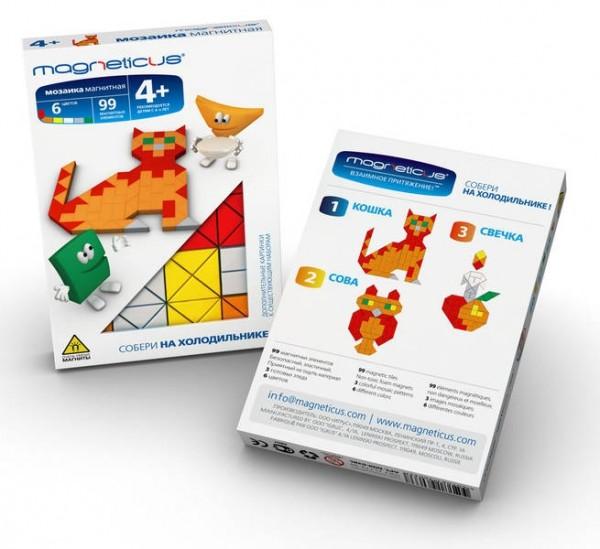 Купить Мозаика магнитная Magneticus Кошка - 99 деталей в интернет магазине игрушек и детских товаров