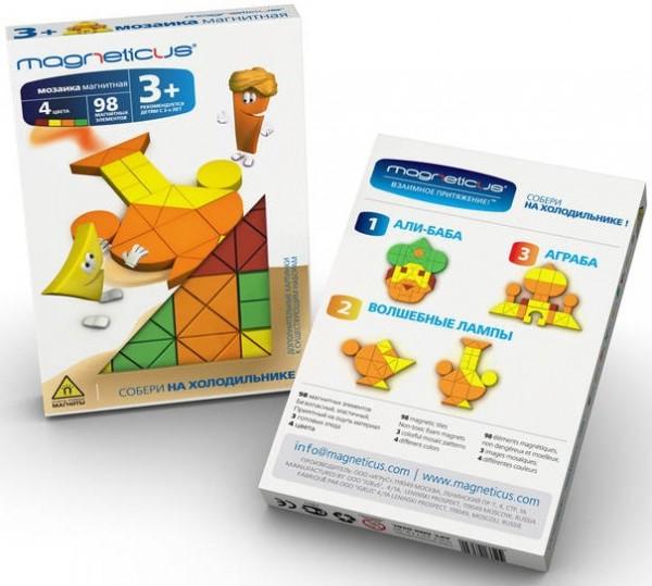 Купить Мозаика магнитная Magneticus 1001 ночь - 98 деталей в интернет магазине игрушек и детских товаров