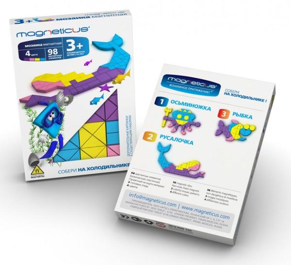 Купить Мозаика магнитная Magneticus Русалочка - 98 деталей в интернет магазине игрушек и детских товаров
