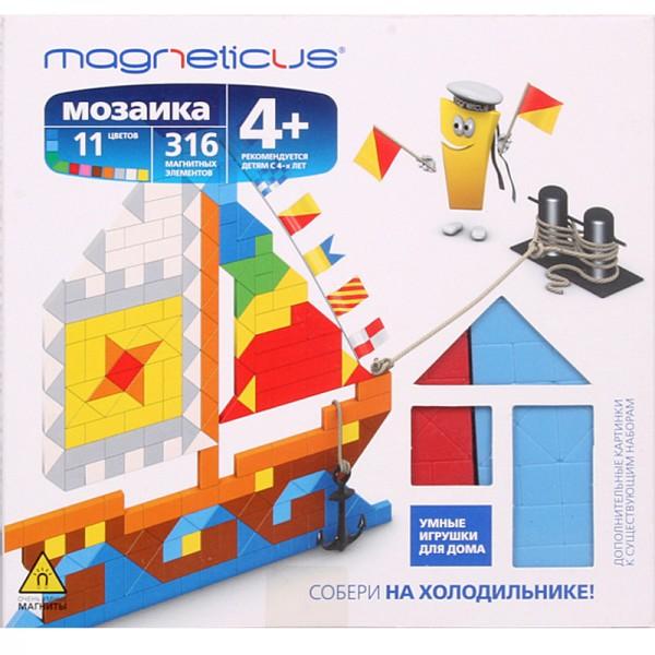 Купить Мозаика магнитная Magneticus Парусник - 316 деталей в интернет магазине игрушек и детских товаров