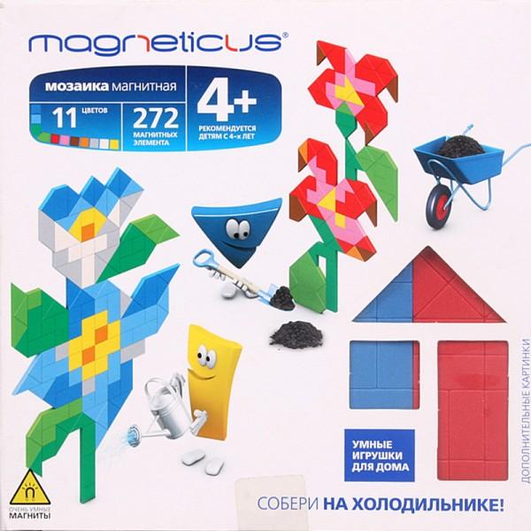 Купить Мозаика магнитная Magneticus Цветы - 272 детали в интернет магазине игрушек и детских товаров