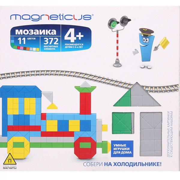 Купить Мозаика магнитная Magneticus Паровоз - 372 детали в интернет магазине игрушек и детских товаров