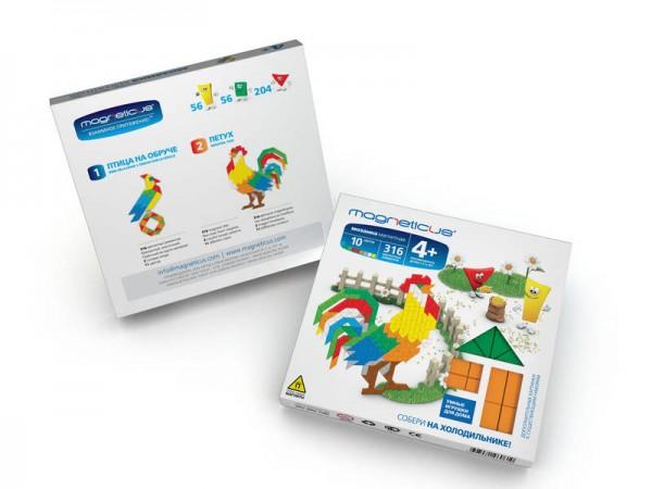 Купить Мозаика магнитная Magneticus Петух - 316 деталей в интернет магазине игрушек и детских товаров