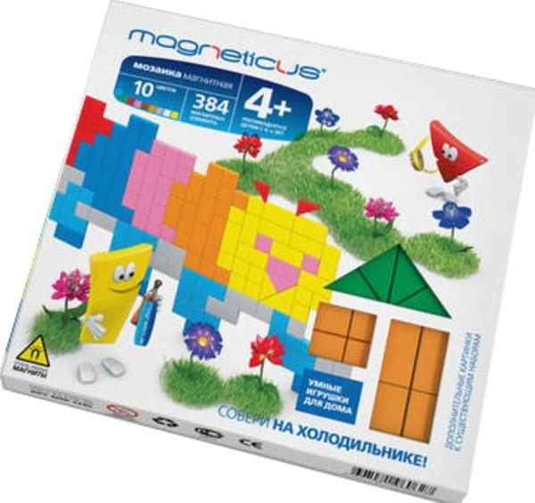 Купить Мозаика магнитная Magneticus Гусеница - 384 детали в интернет магазине игрушек и детских товаров
